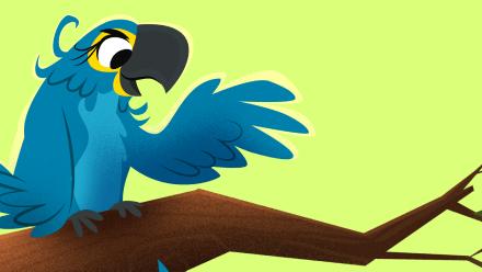 Arara-azul Animais da Floresta